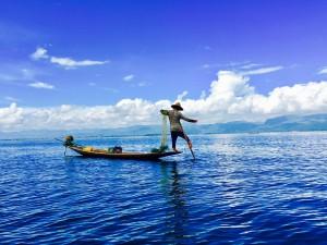 Einbeiniger Fischer_Inle See