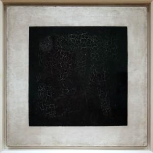 """Malewitsch's legendäres """"Schwarzes Quadrat auf weißem Hintergrund"""" von 1915"""