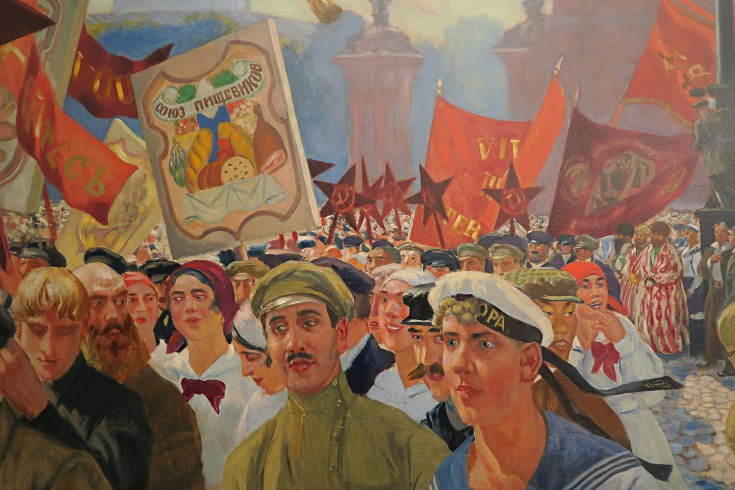 Revolution Kustodiev Demonstration In Uritsky Square Detail Photograph Www Foxtrotfilms Com