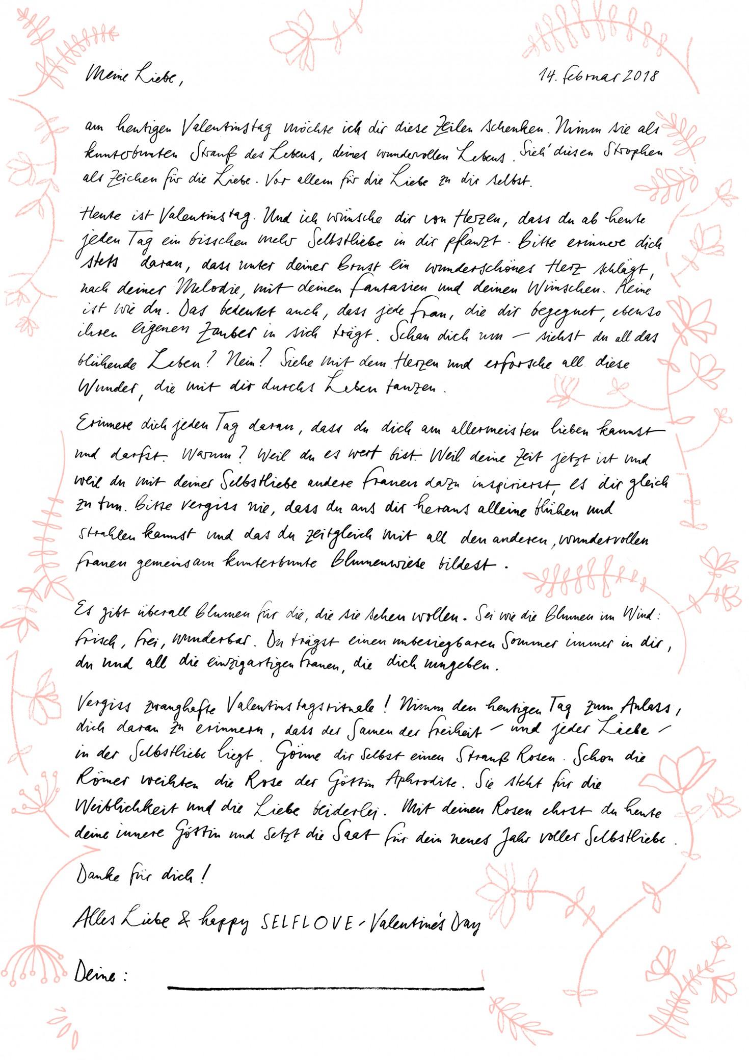 Vorlagen Liebesbrief