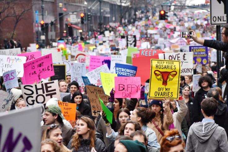 Womens March Croud