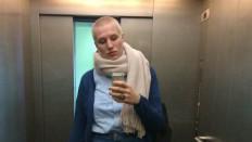 Glatze Hinterher