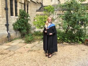 Es war ein langer Weg für Kristina, bis sie ihr Zeugnis in Oxford machen konnte.